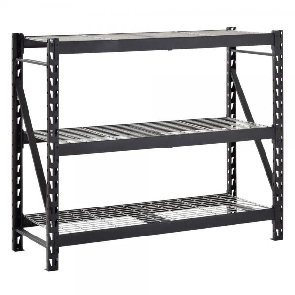 4 Tier Floor Standing Retail Display Bulk Merchandise Steel Wire Basket Shelf (PHY324)