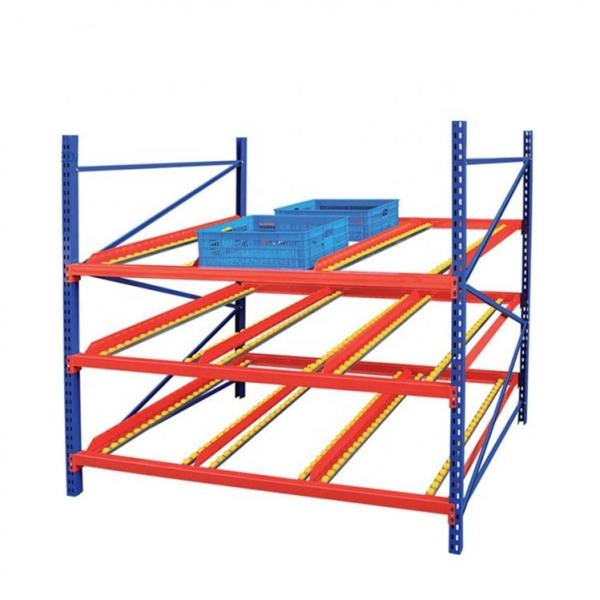 Blue Orange Metal Shelf Rack for Industrial Warehouse
